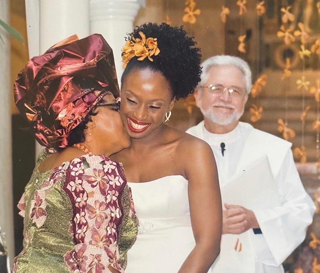 Chimamanda Adichie and mother