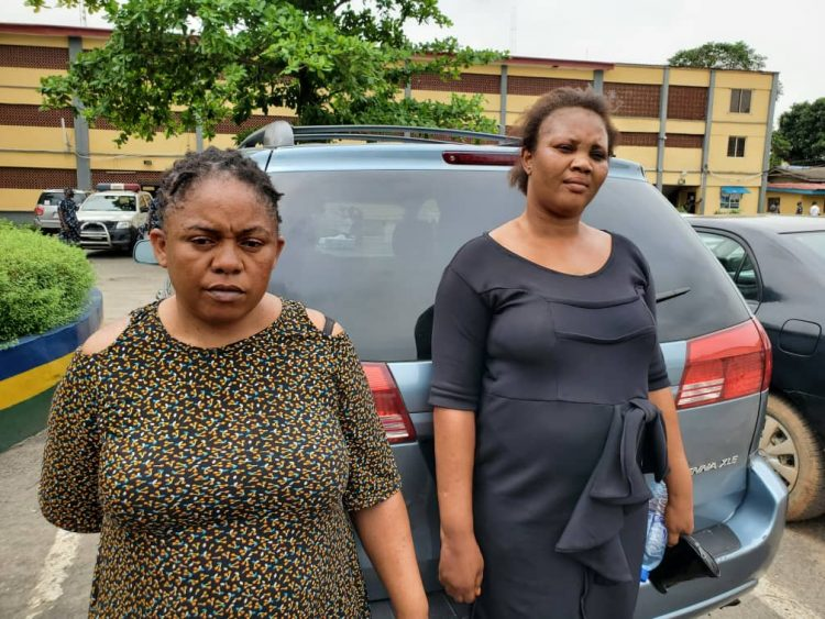 The suspects who allegedly beat the Sexagenarian to death in Lagos