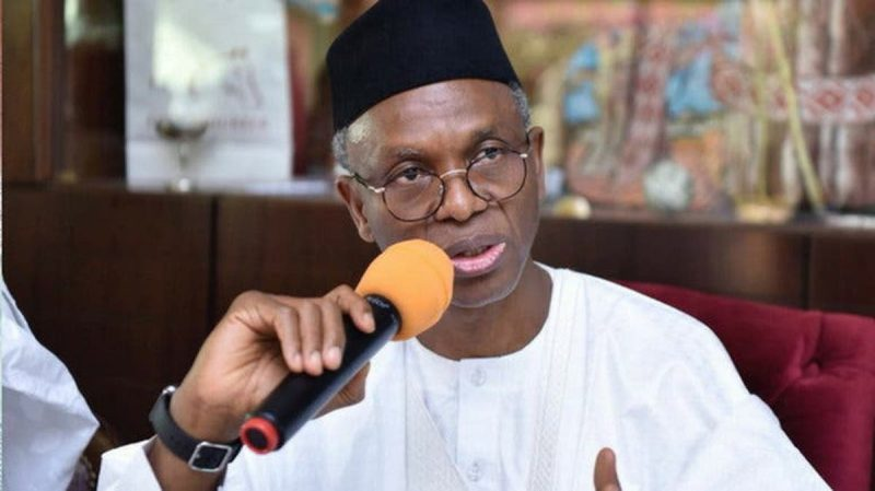 Governor Nasir El Rufai: says no ransom payment even for his son