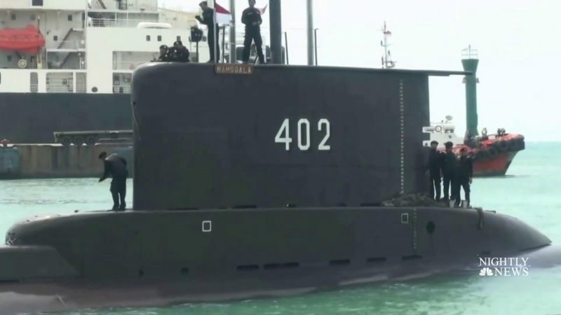 the missing Indonesian submarine