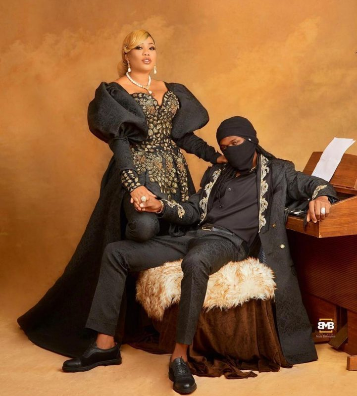 Toyin Lawani and her fiance