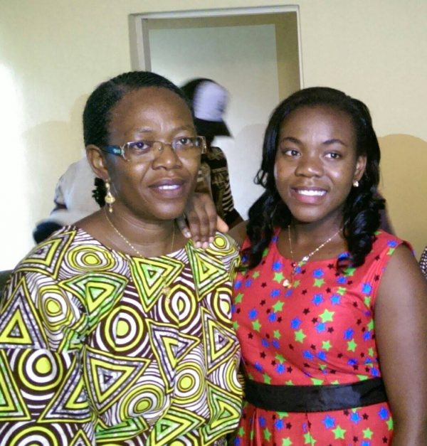 Professor Grace Ayanbimpe, left and her daughter