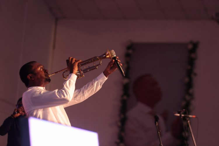 Nathaniel Bassey displaying at the event
