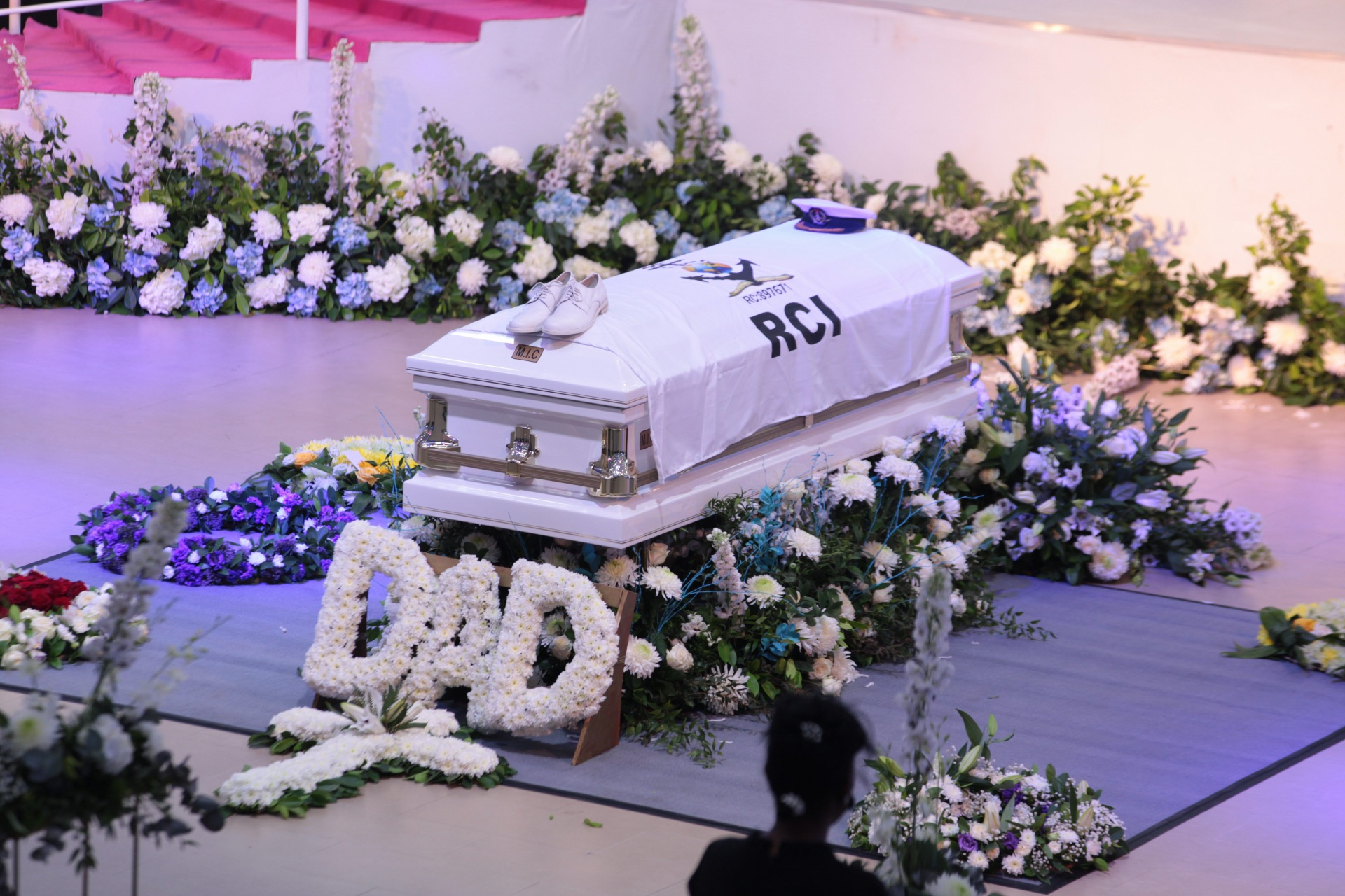 Remains of Pastor Dare Adeboye at the farewell service at the Youth Centre, Redemption Camp