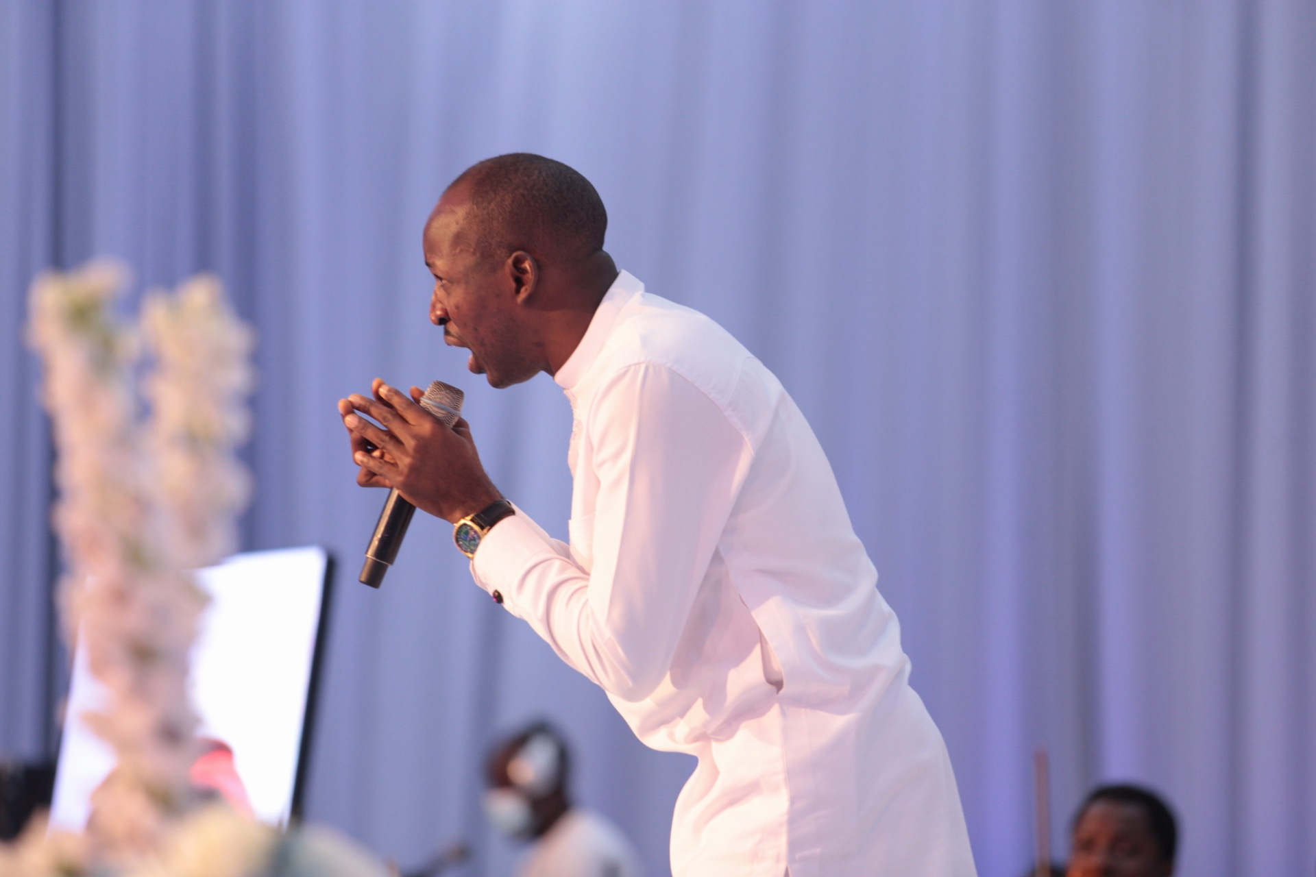 One of the ministers at the Farewell Service of Pastor Dare Adeboye, at the Youth Centre, Redemption Camp