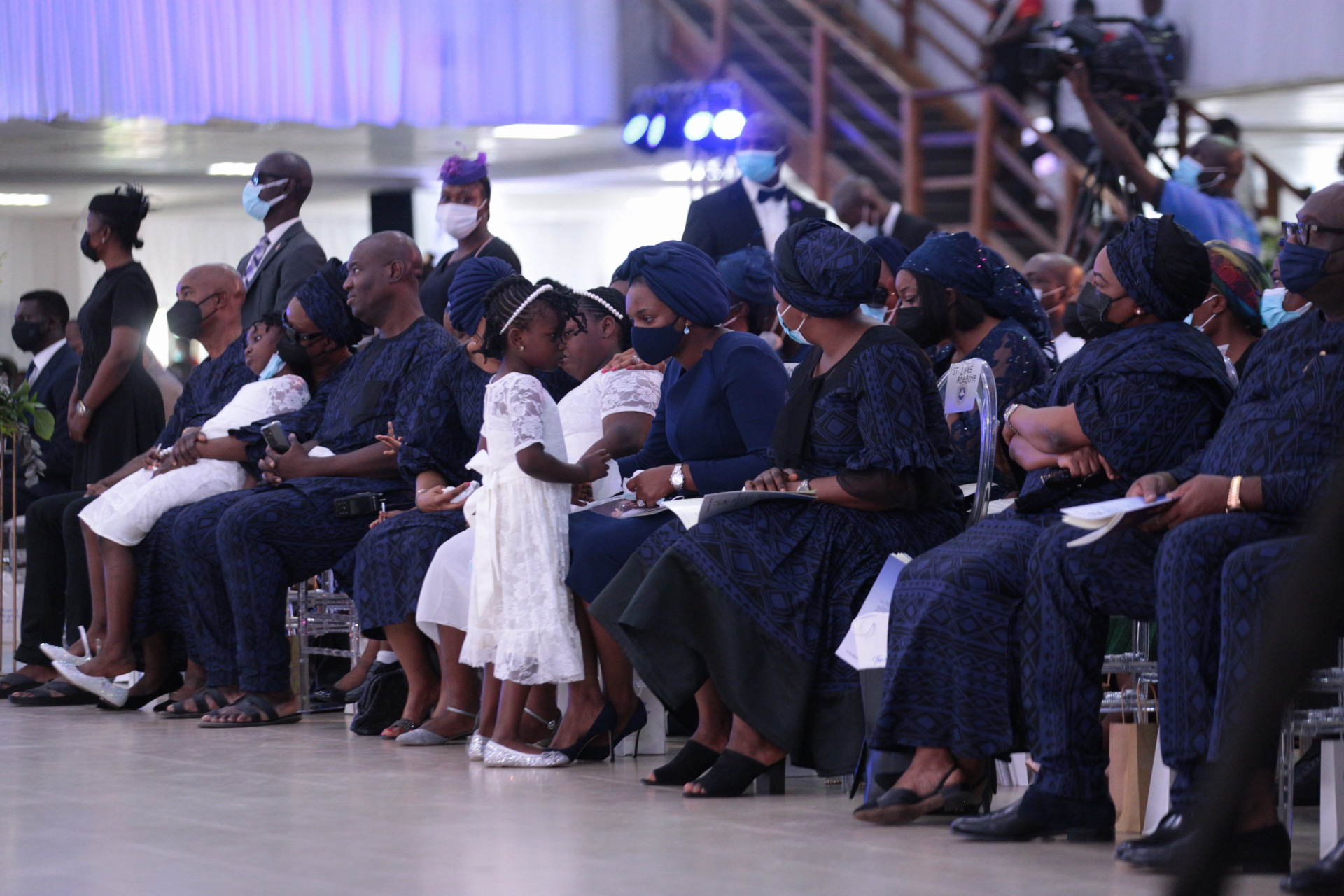 Pastor Dare Adeboye's family at the farewell service at the Youth Centre, Redemption Camp