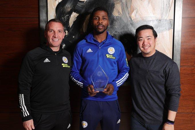 Kelechi Iheanacho bags Leicester City goal of the season award