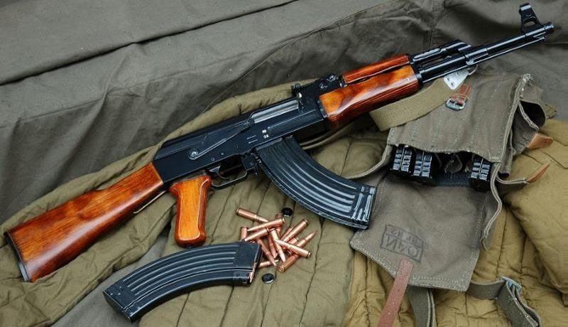 An AK-47 rifle
