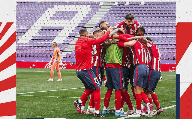 Atletico Madrid players erupt in joy for winning La Liga