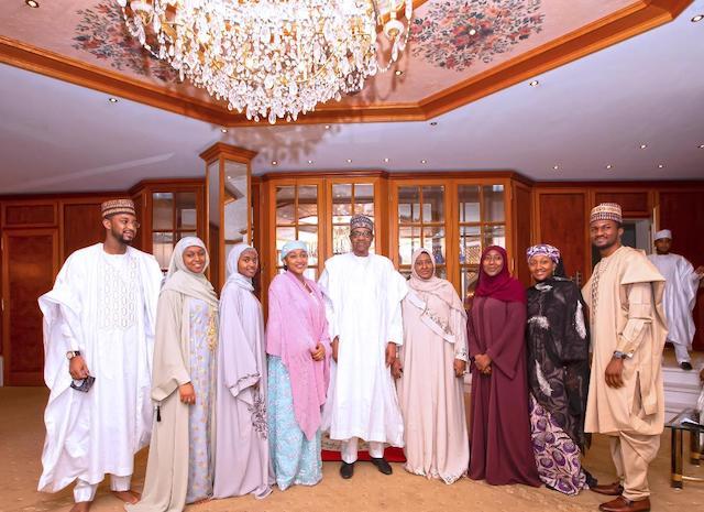 Buhari, Aisha with family members