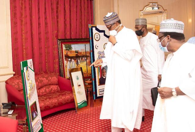 Buhari checks the Sallah cards