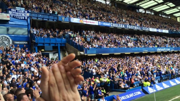 Chelsea fans during a match at Stamford Bridge