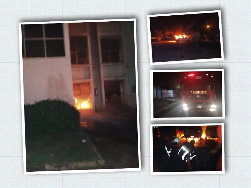 Fire at Enugu INEC office