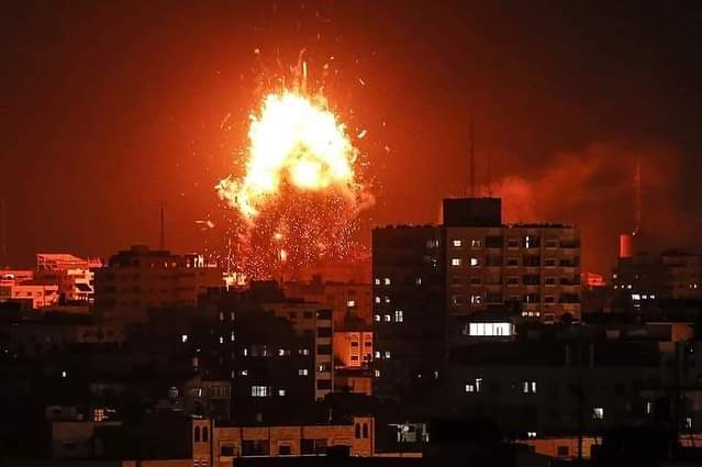 Israel bombs Gaza with death toll at 109