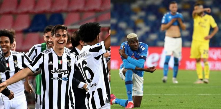 Juventus squeeze through to Champions League football, Napoli drop