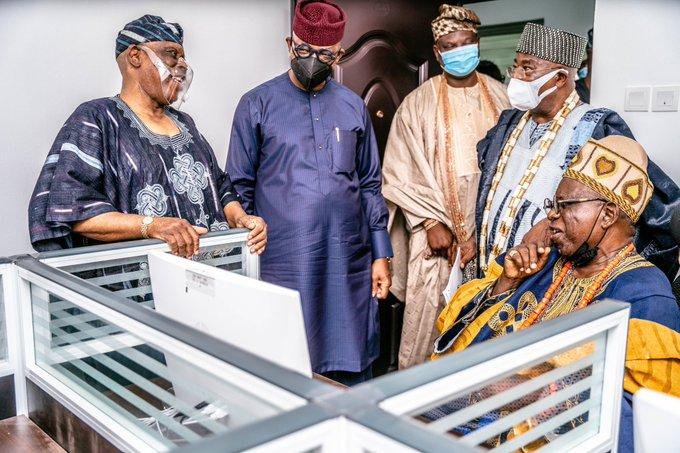 L-R, Osoba, Gov. Abiodun, Olota of Ota Oba Adeyemi Abdulkabir Obalanlege, Oba Gbadebo and Oba Femi Ogunleye