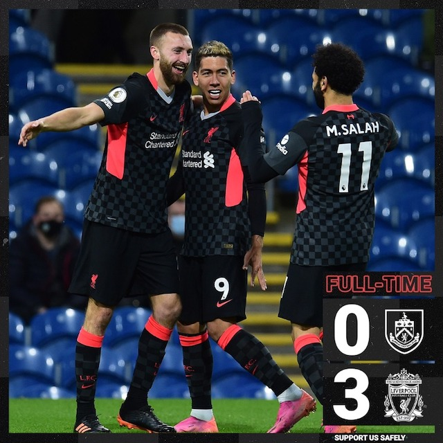 Liverpool players rejoice hitting Top 4