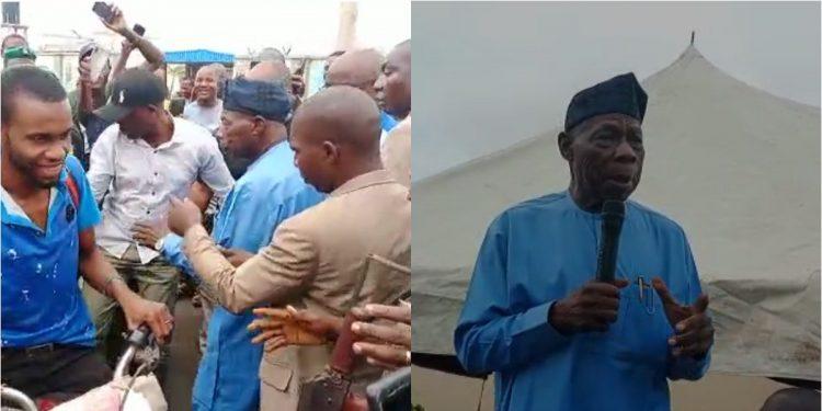 Obasanjo hits Ibadan Chicks Market