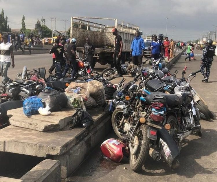 Several okadas impounded at Cele Bus Stop