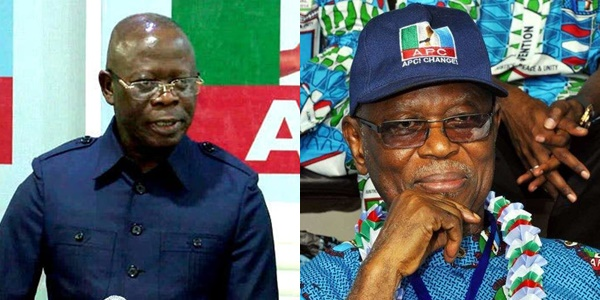 Adams Oshiomole and John Oyegun  of the APC