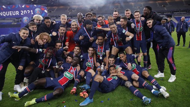PSG French Cup champions