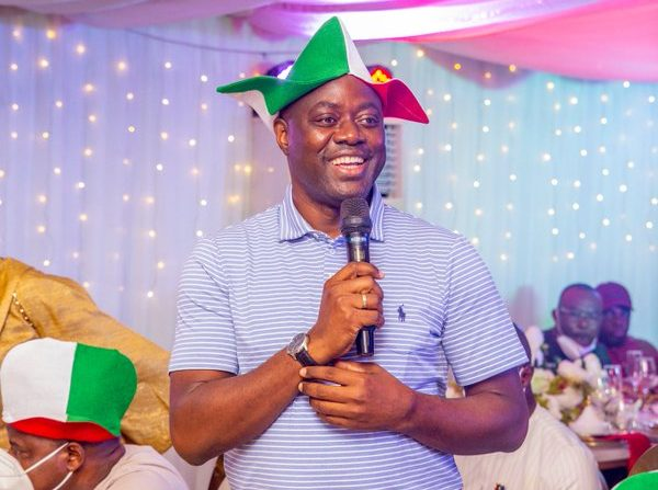 Seyi Makinde at a dinner for the PDP governors on Sunday