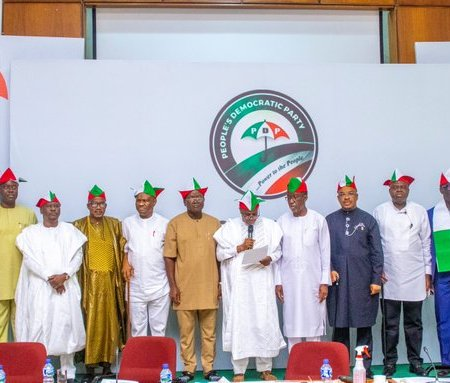 PDP governors at a meeting in Ibadan