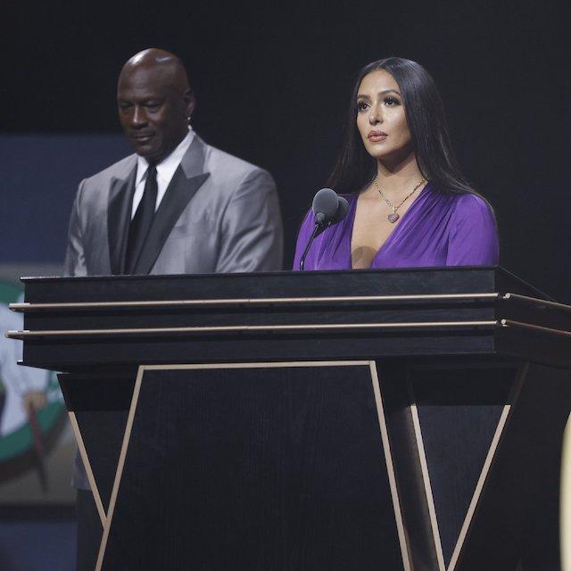 Vanessa Bryant with Michael Jordan speaks on Kobe Bryant on Saturday