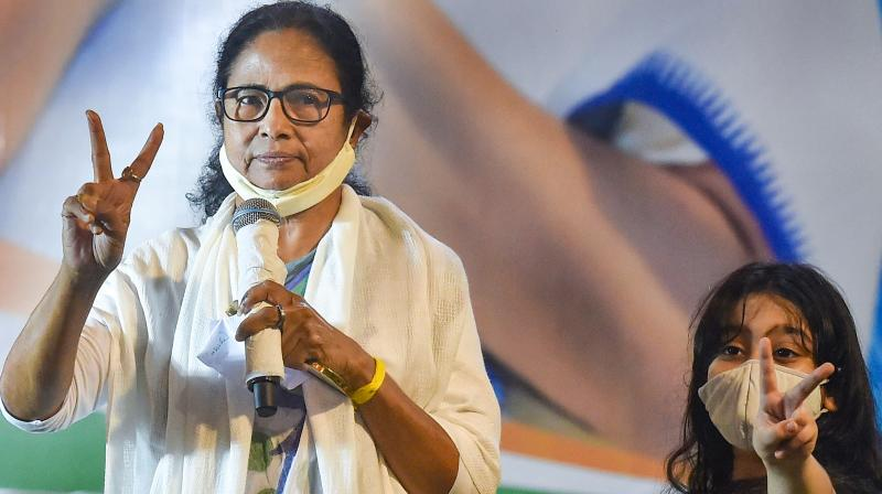 West Bengal Chief Minister Mamata Banerjee: her party thrashes PM Narendra Modi's party