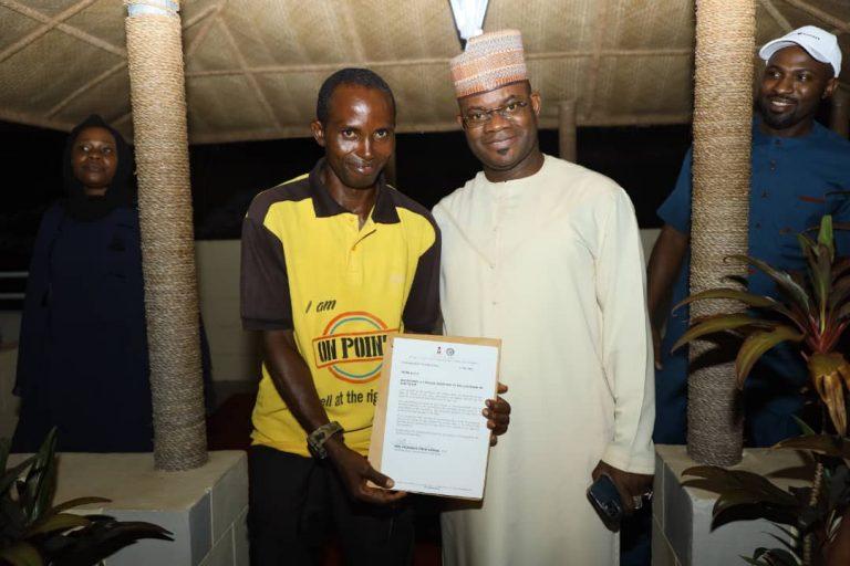 Gov. Yahaya Bello and new SSA  Peter Aliyu