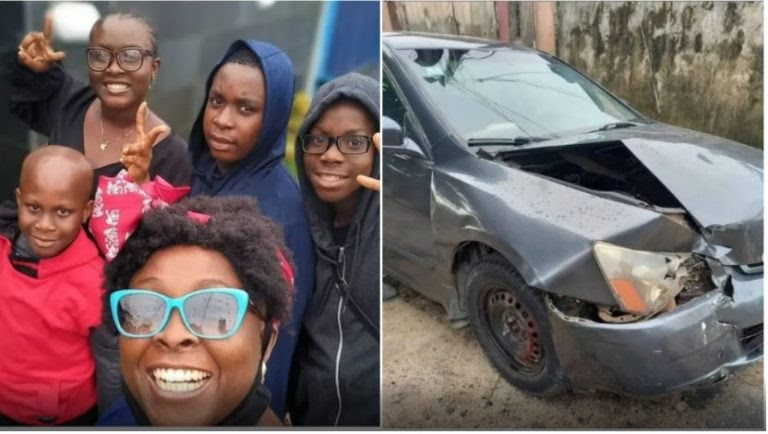 FILE PHOTO: OAP Lolo 1 and children survive car accident.
