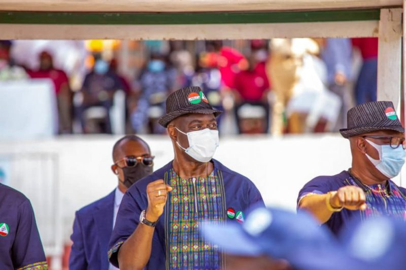 Governor Seyi Makinde at the 2021 May Day celebration in Oyo state.