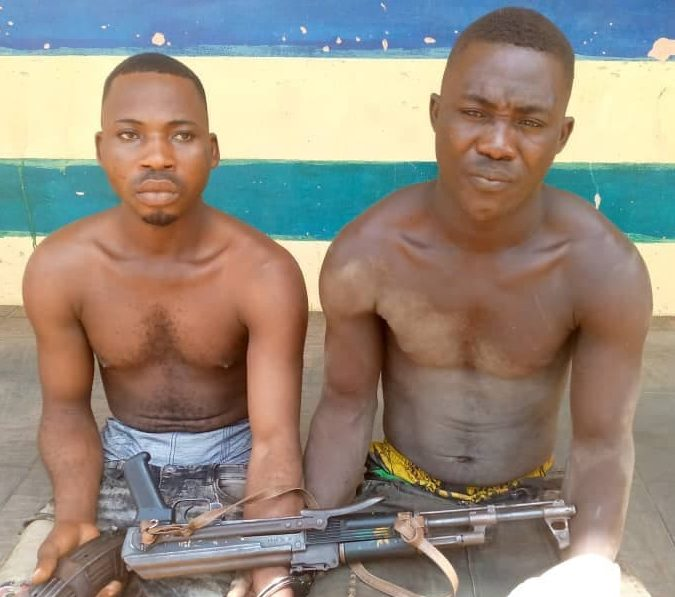 Suspected armed robbers arrested by Police officers in Imo State