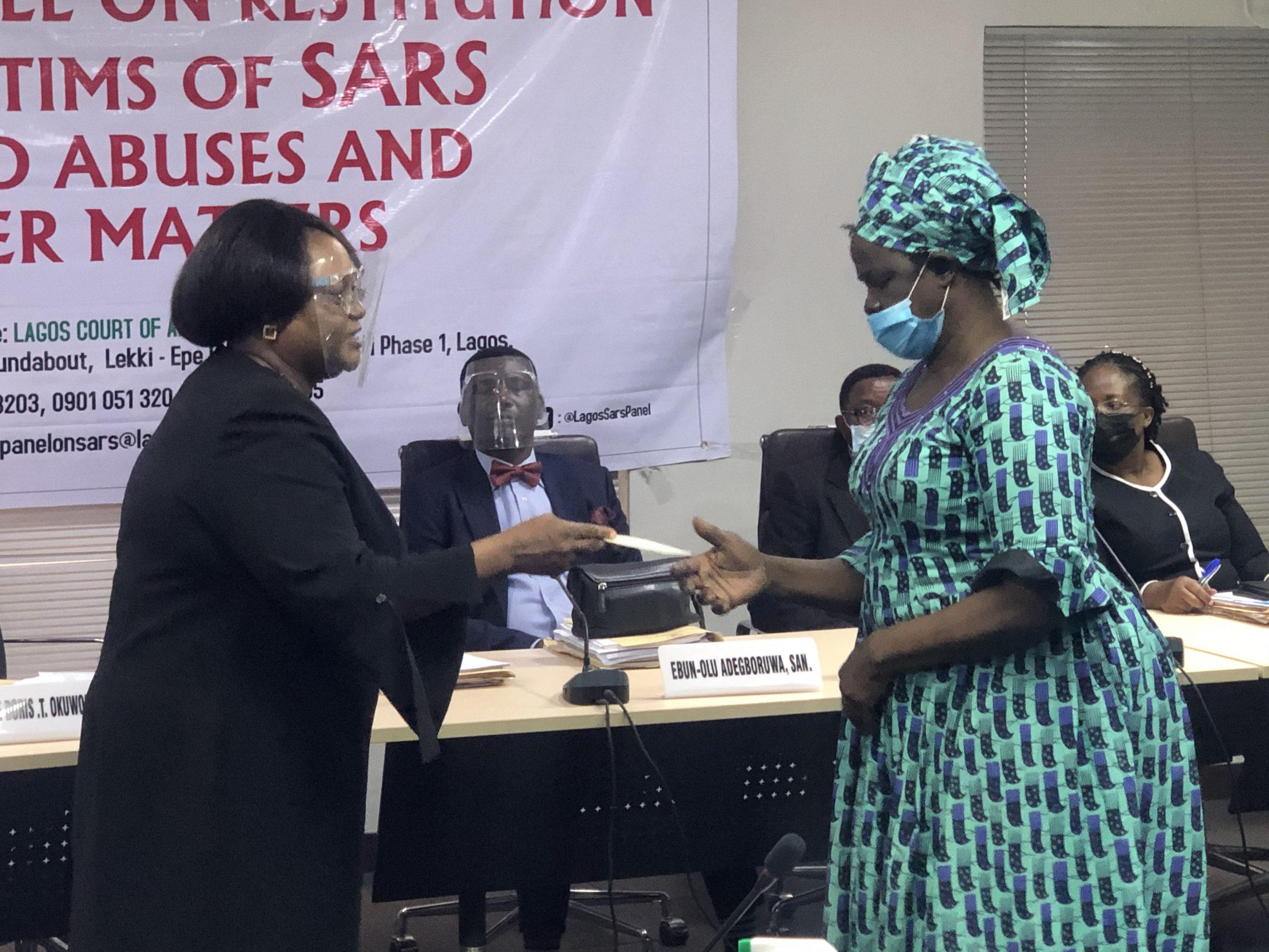 Justice Doris Okuwobi and mother of late Kolade Johnson
