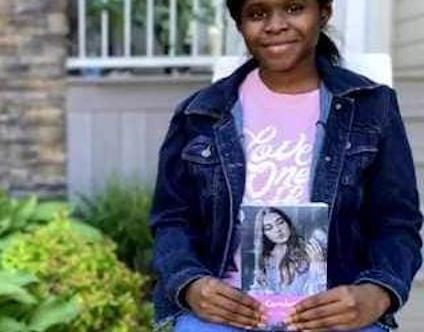 Chidera Igwe with her first novel