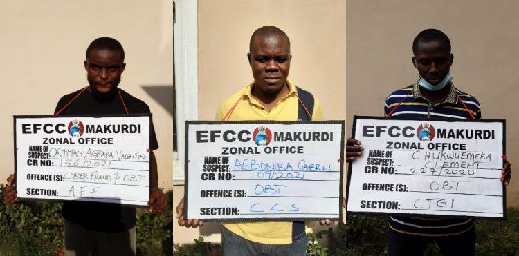 Cybercrime: Benue Court remands three suspected fraudsters in Makurdi