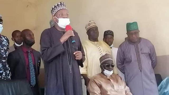 Governor Bagudu at the Federal Government College Birnin Yauri
