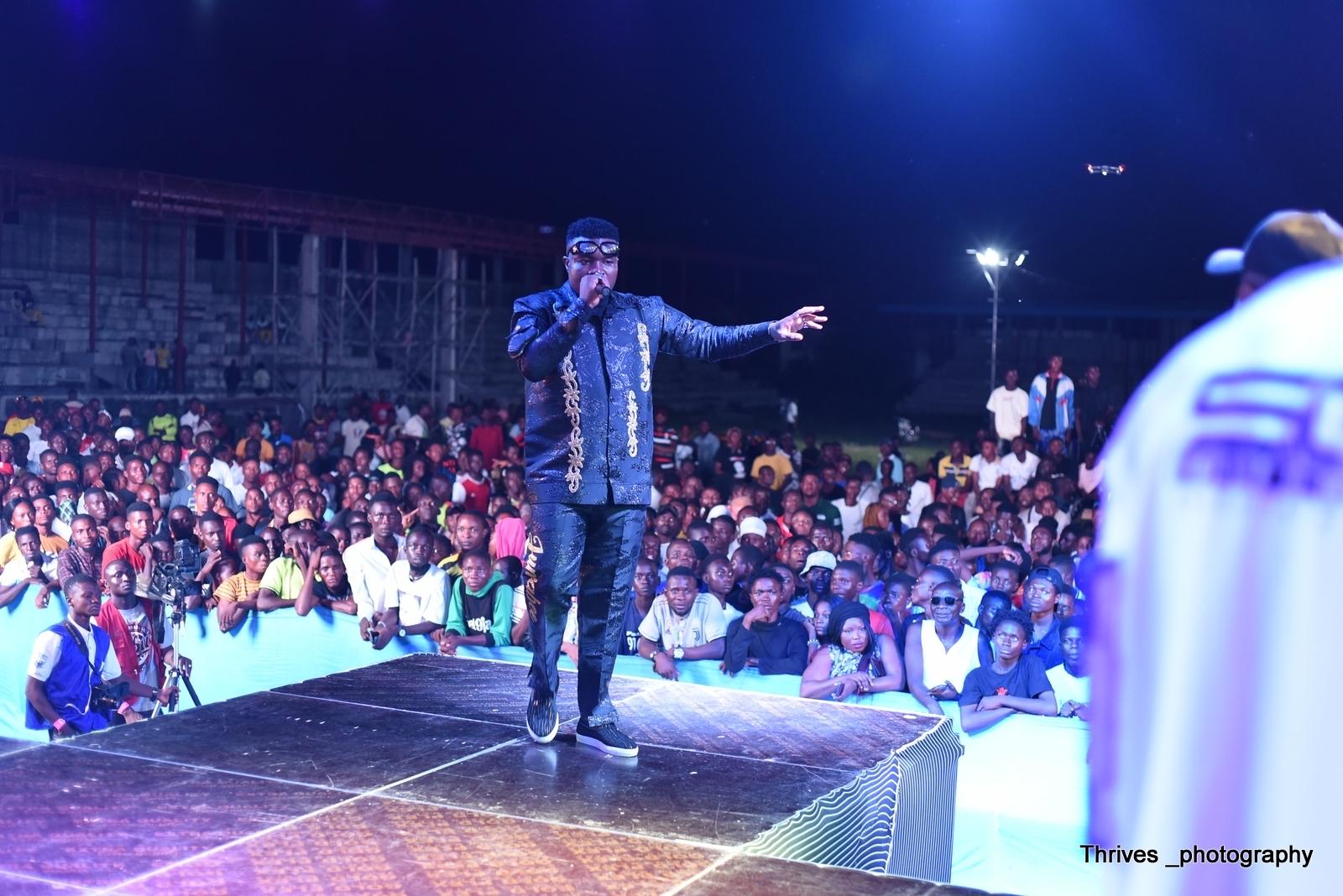 Jumabee performing at his Concert held in Lokoja, Kogi State