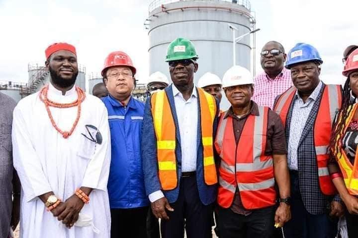 Obaseki at the Edo modular refinery