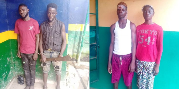 Four deadly robbers Abiola, Adeniyi, Musa, Jubril busted in Lagos