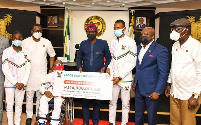 Sanwo-Olu also gives cash gifts to Lagos athletes at the last National Sports Festival