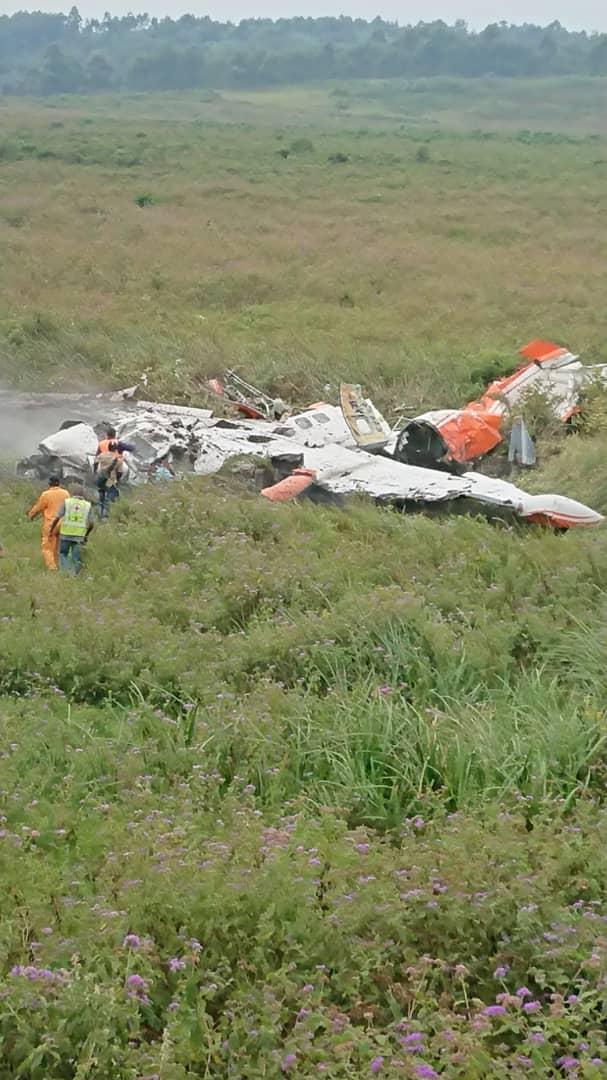 The plane wreckage at Kavumu Congo