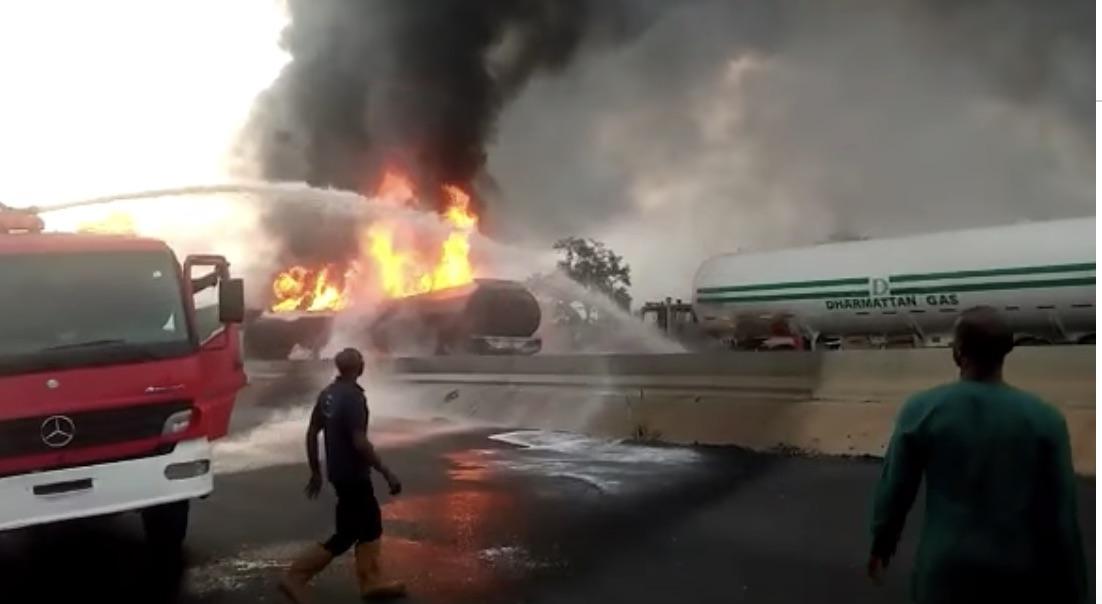 The tanker fire on Lagos-Ibadan expressway