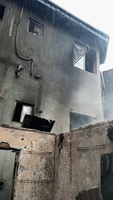 The three-storey building in Marina Lagos destroyed by fire