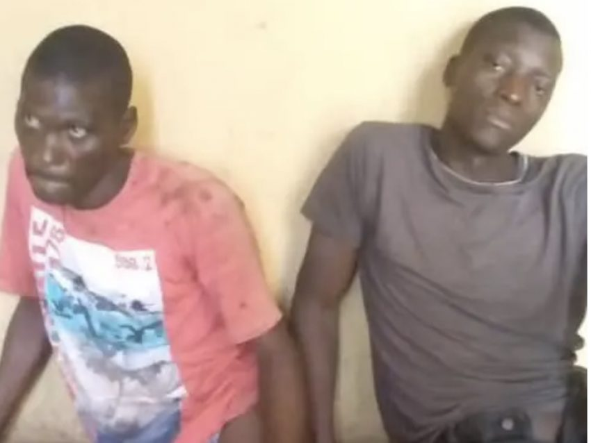 Two of the three Ondo carjackers involved in the accident