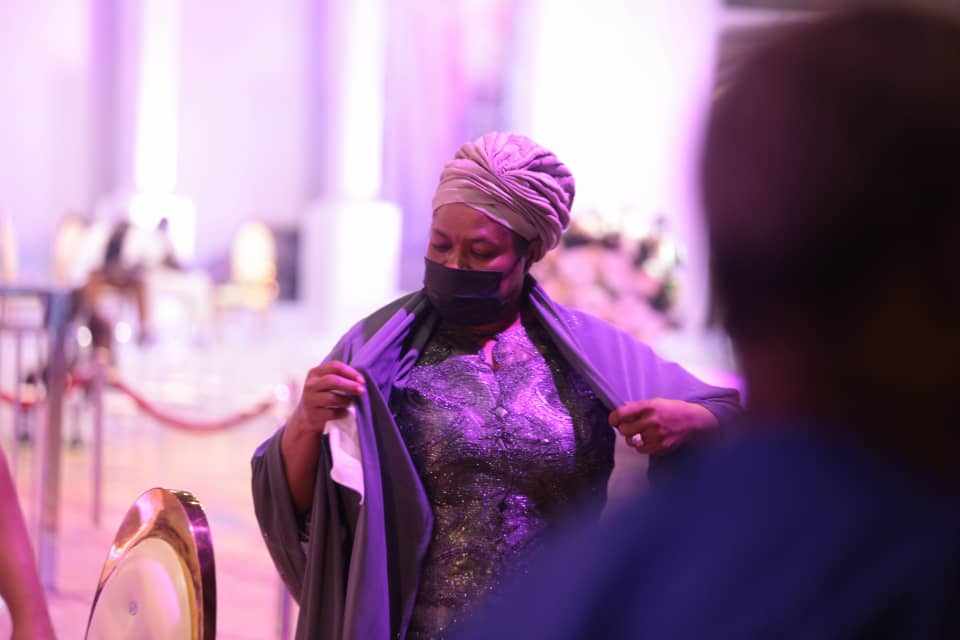 TB Joshua's wife, Evelyn at the lying-in-state service. Photo by Ayodele Efunla