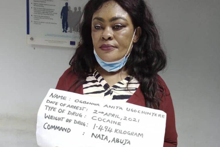 Anita Ugochinyere Ogbonna arrested with cocaine