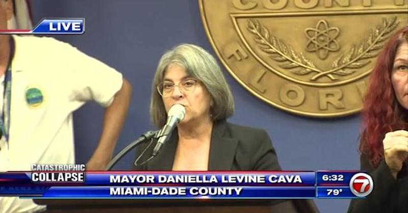 Miami-Dade Mayor Daniella Levine Cava speaks on Surfside condo collapse
