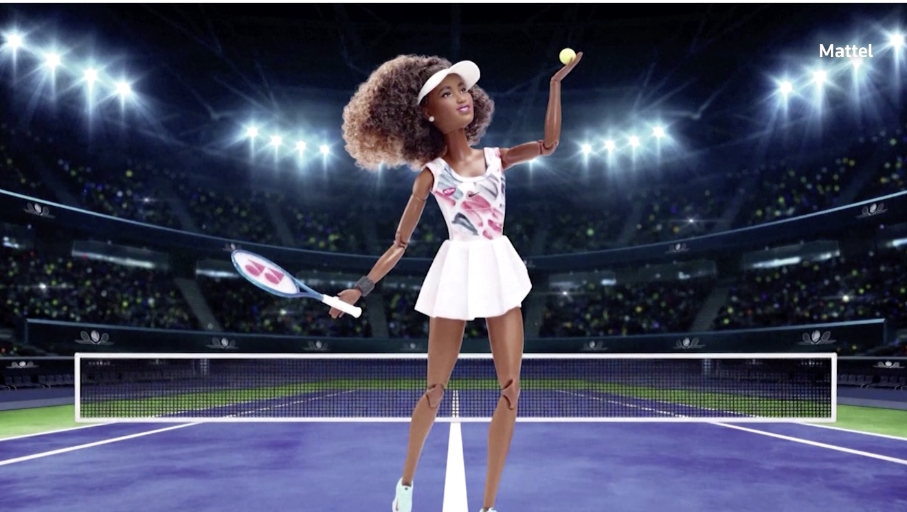 A Naomi Osaka Barbie doll