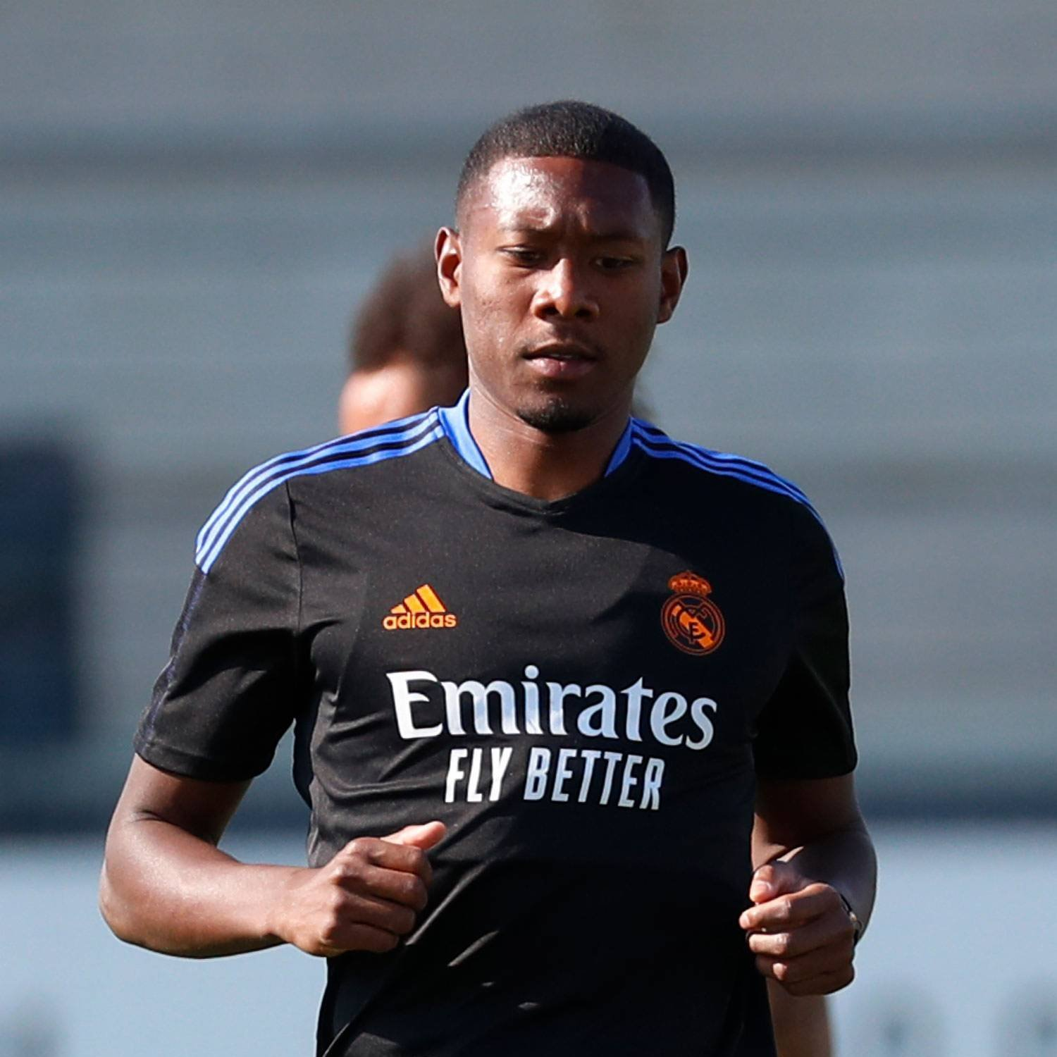David Alaba during his first training with Real Madrid